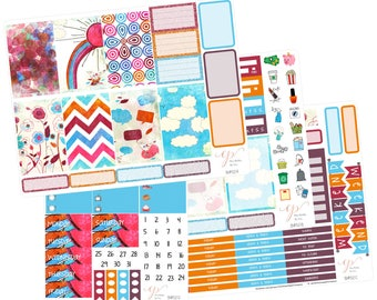 5 Dollar Friday!! Big Happy Planner Stickers /  Rainbow Stickers / Planner Stickers / Erin Condren Hardbound / Full Kit / BHP52