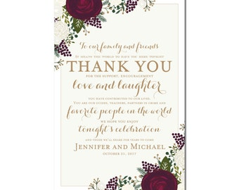 Printable Thank You Wedding Sign Thank You Sign Printable Thank You Sign Reception Sign Ceremony Sign Thank You Wedding Poster #CL178