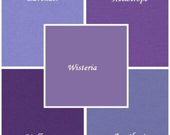 Purple, 5 pc Kona Cotton Bundle, Robert Kaufman Fabrics, Choose Your Bundle Size