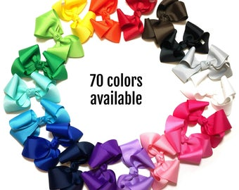 4 inch Bow, 4 inch Hair Bow, Boutique Bow, Boutique Hair Bow, Boutique HairBow, Hair Bow For Girls, Hair Bow For Toddlers