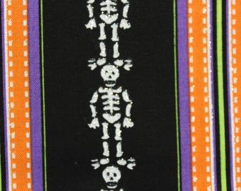 "Sparkle Skeleton stripe - 44-45"" wide 100% cotton"