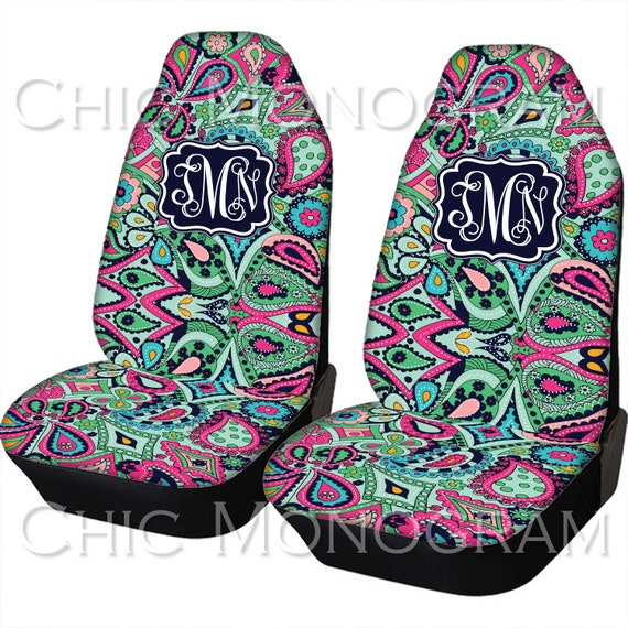 Seat Covers for Vehicle Paisley Jewels Car Seat Covers Front Seat Back Seat Cover Monogram Personalized Car Accessories Seat Cover For Car