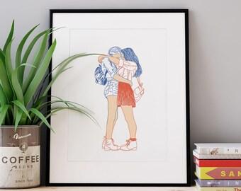 Affiche girlfriends A4, A3