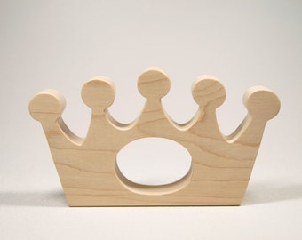 Wooden Teether, Crown Teething Toy, Wooden Royal Teether, Crown Wood Teether, Teething Baby Toy, Teething Toy, Wooden Teething Toy,