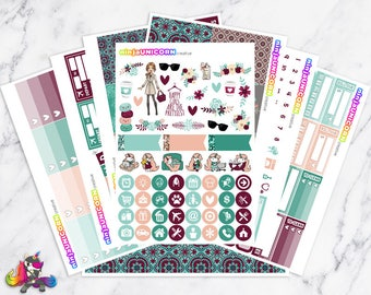 Floral Chic || Planner Sticker Kit, Planner Stickers, Weekly Planner Kit, Autumn Planner Stickers, Fall Planner Stickers