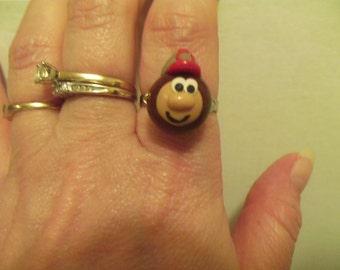 Ohio State Buckeyes Polymer Clay Brutus Ring
