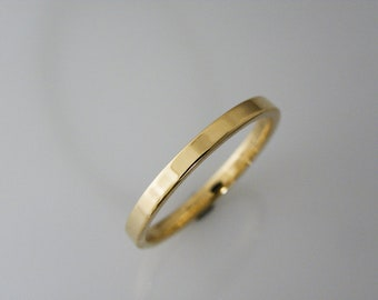 Yellow gold 2mm wide wedding ring shiny polished thick wedding band for women and men .FREE ENGRAVING.