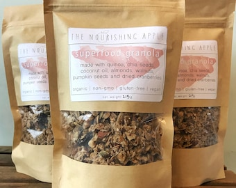 2-bags | Superfood Granola | Gluten-free, Vegan, Organic