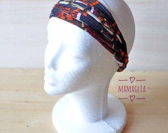Turban headband vintage style, afro black headwrap, ladies boho turban hairband, ecofriendly hairwrap, turbans women, rasta hair accessories