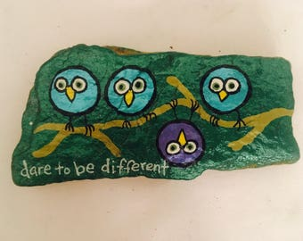 Dare To Be Different Painted River Rock