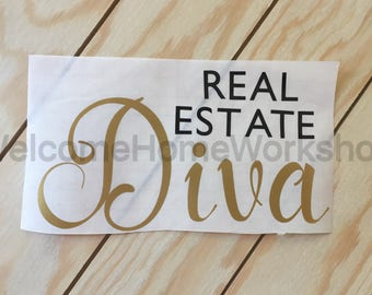 Vinyl Decal for DIVA Real Estate Agents, Brokers, Etc.