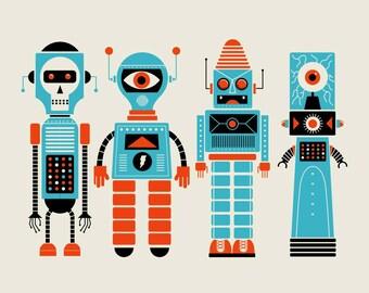 4 Robots silkscreen