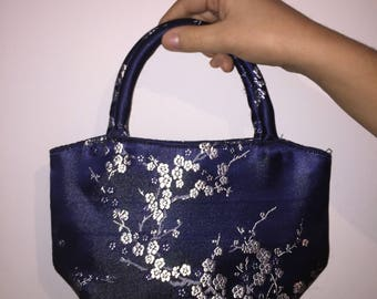 Blue pattern bag