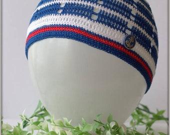 Summer hat, crochet hat, boys, sea theme