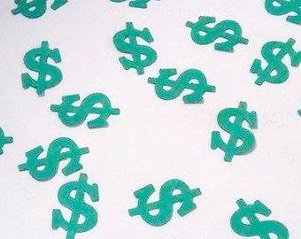 Money Confetti, Cash Confetti, Money Symbol Confetti, Dollar Sign, Confetti, Dollar Sign Party Favor, Money Symbol Party Favor, Money Party,