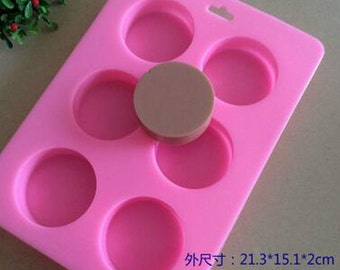 Round silicone molds for soap cake chocolate candy pudding ice bread crafts tools baking tools kitchen