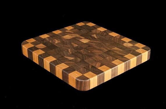 """Walnut & Birch End Grain 10"""" Cutting Board"""