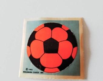 Vtg Hallmark Sticker Neon Soccer Ball 80's sports