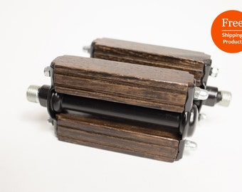 FREE SHIPPING|Wooden bicycle pedals|Wood pedals|Bike Pedals|Fixie|Oak Wood|Wenge|Classic|Pedals|Vintage Bike|Bicycle|Design|Fahrrad Regal