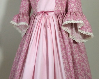 Flowered Colonial dress 4 Girls  READY to ship