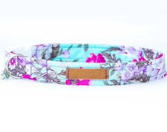 Boho Dog Collar Shabby Chic Dog Collar Posh Female Dog Collar Fashion Vintage Dog Collar Fancy Floral Dog Collar Girl Mint Dog Collar Custom
