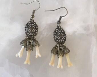 Brass Haunting Earrings