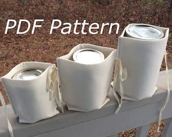 Zero Waste Mason Jar Nest PDF Pattern, divider for bulk shopping, bottles, jar lunches
