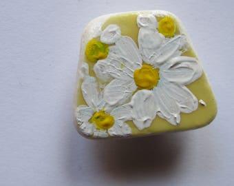 Handpainted daisy sea pottery magnet BUY 2 GET 1 FREE twilightdance ooak original art