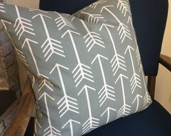 Grey Arrows Pillow Case