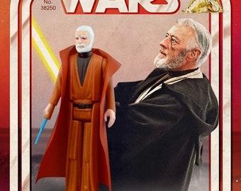 Retro Star Wars Vintage Action Figure Print - Ben (Obi-Wan) Kenobi