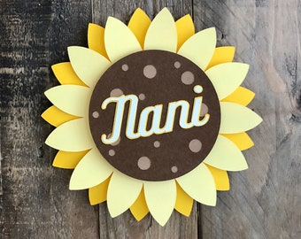 Personalized Sunflower Card