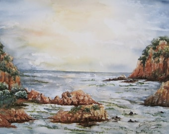 Knysna - water color painting of South Africa