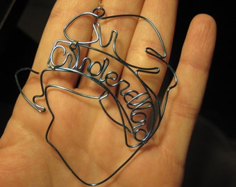 Wire Wrapped Cinderella MADE to ORDER Pendant