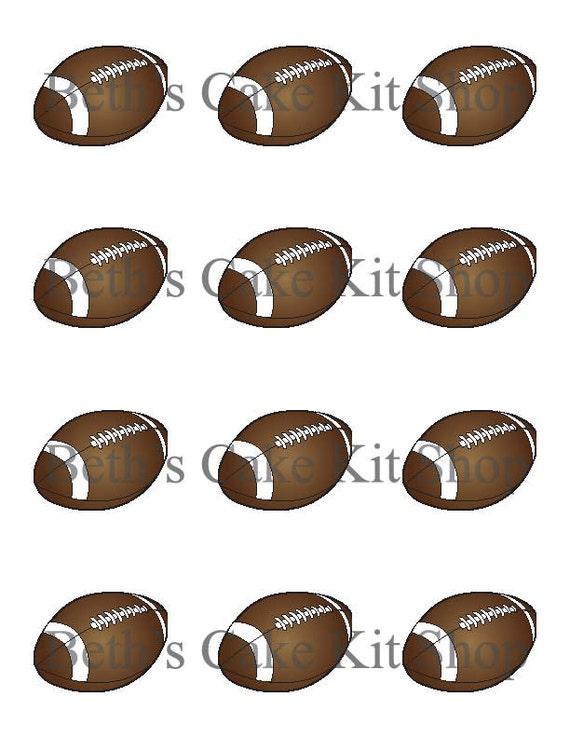 Football Cupcake Topper DIY Printable Download
