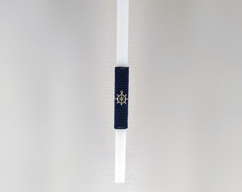 Nautical Easter Candle