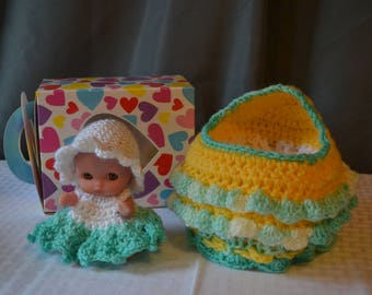 Cupcake baby cradle purse green