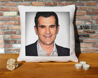 Ty Burrell Pillow Cushion - 16x16in - White