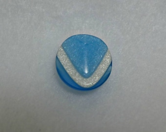 10 small buttons - turquoise, blue, white - 13mm