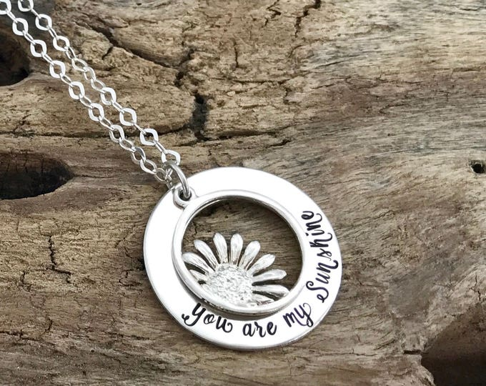 You are my sunshine necklace | granddaughter gift | | long distance relationship | Sentimental gift for Grandma | Meaningful