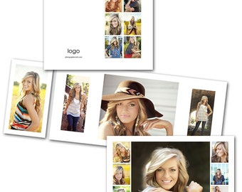 Clean 4x8 Accordion - Photoshop template download by Photographer Cafe