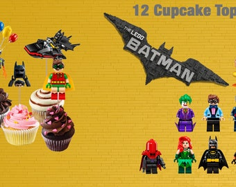 Lego Batman Cupcake Toppers Digital-Printables Lego Batman Toppers-Lego Batman Cupcake Toppers-Lego Batman Party Decoration-DIGITAL DOWNLOAD