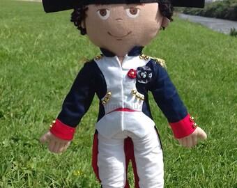 Napoleon Bonaparte - Historical doll - Decorative - Personalized - French Revolution - Militar Outfit - Chapeau de Bras