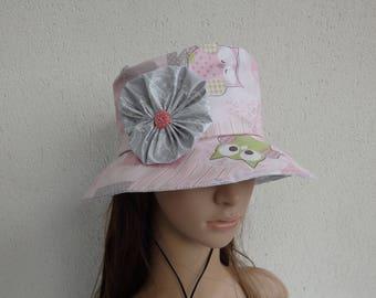 Very nice oilcloth rain hat