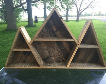 Geometric Mountain Shelf / Triangle Shelf / Shelves