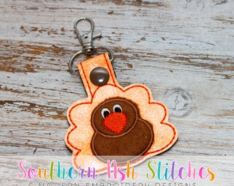 Turkey SnapTab Embroidery Digital Download