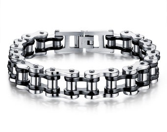 Bracelet for men Stainless Steel | Male Bracelet Jewelry Classical Heavy Metal | Motorcycle Chain Men Hiphop/rock Accessories | mens gift