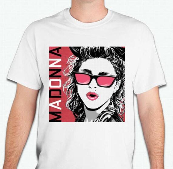 GGV Designs Unisex Madonna 80s Shades T-shirt