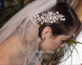 Crystal wedding hair comb, bridal crystal hair comb, wedding comb, wedding hair accessory, rhinestone side wedding hair comb