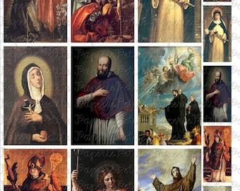 Catholic Saints Digital Download Collage Sheet 2.25 x 3.5 Inch