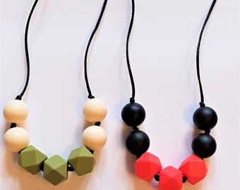Child's Necklace with hexagon and round beads